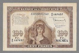 """Billet de 100 francs """" Australien """" de Nouméa (1943)"""