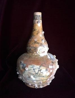"""Vase """" bouteille """" provenant de l'épave de Hoi An (XVè siècle)"""