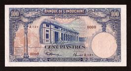 Billet Indochine BIC 100 piastres (1940) Spécimen