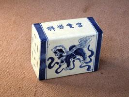 Oreiller de fumeur en porcelaine blanc-bleu (#14)