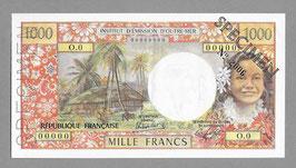 Nouvelle-Calédonie IÉOM 1000 francs (1983) SPÉCIMEN