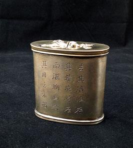 Boîte à opium double en baitong