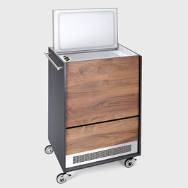 Furniture Cooler Walnut with Rail