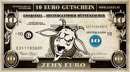 Gutscheine im Wert von Euro 10,00 & Euro 5,00