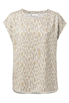 Modal T-shirt with rounded hems and snake print