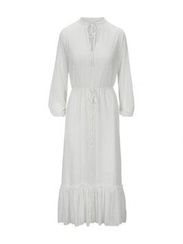 Indigo Long Dress Antique White