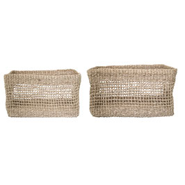 Basket 2er- Set, Nature aus Seegras