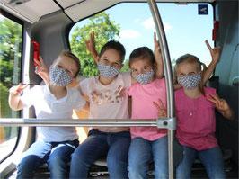 Kinder-Gesichtsmasken aus Baumwolle, XS