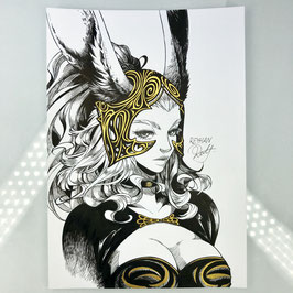 Fran Original Ink Drawing