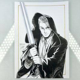 Obi-Wan Kenobi Original Ink Drawing