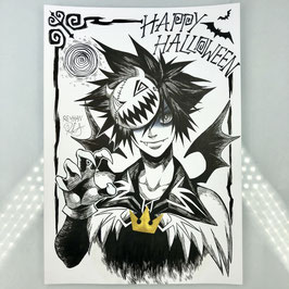 Sora Original Ink Drawing