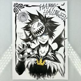 Sora Original Ink Drawing