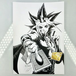 Yami Yugi Original Ink Drawing