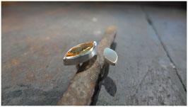 Schwebender Ring - Citrin