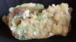 grüner Apophyllit mit Stilbit