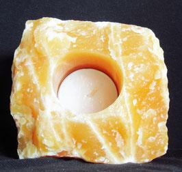 Orangen-Calcit Teelichthalter