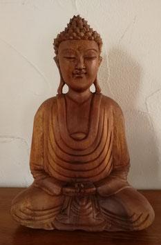 Buddha aus Suar Holz