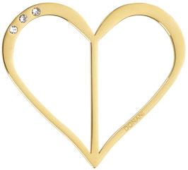 großes Herz gold Strass