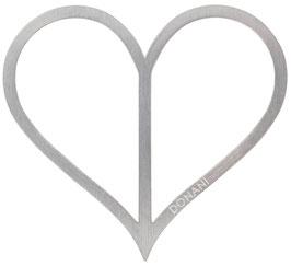 Herz silber matt