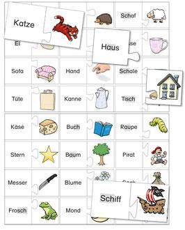 Lesestufe 2 | Lesepuzzle - Band 1 - Wörter und Bilder