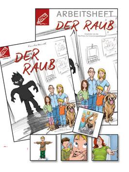 Lesestufe 5 | Der Raub - SET 2 - Roman, Arbeitsheft + Spielkarten