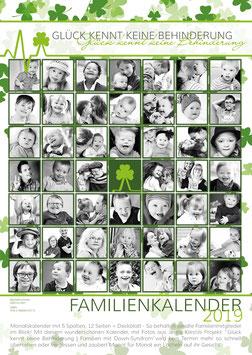 Jenny Klestil - Familienkalender A3 - Glück kennt keine Behinderung