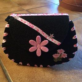 Tasche Blumen rosa