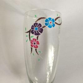 Sektglas Blumen