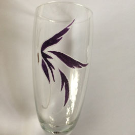 Sektglas Schmetterling Lila