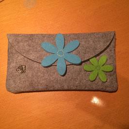 Clutch Blumen Blau / Grün