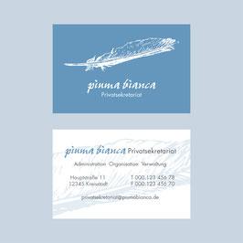 piuma bianca – Visitenkarte