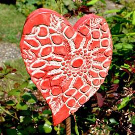 Gartenstecker Herz