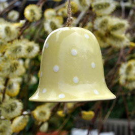 Keramikglöckchen Dotty Gelb