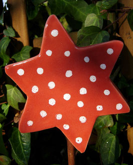 Keramik-Stern 'Dots' Gartenkeramik