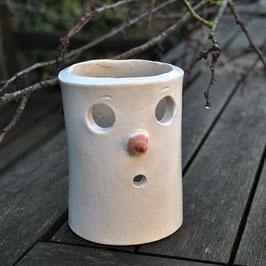Keramik-Windlicht Schneemann