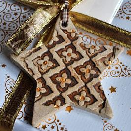 Weihnachtsstern aus Keramik