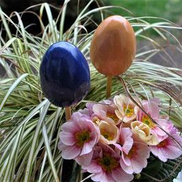 2 Keramik-Eier zum Stecken