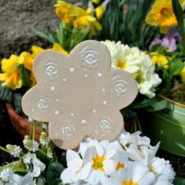 Keramik-Blume-Gartenstecker