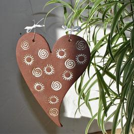 Steinzeug-Herz Schoko