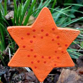 Stern aus Keramik zum Stecken