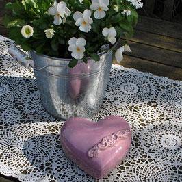 Keramik-Herz Flieder