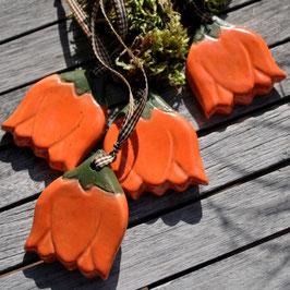 Keramikblüten Orange