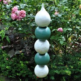 Gartenstele Blaugrün/Weiß