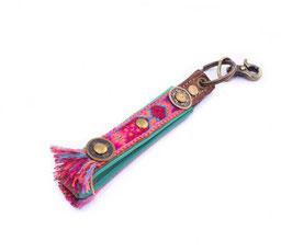 Schlüsselanhänger Boho Rosa