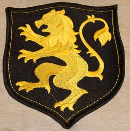 Wappen mit Löwe gelb