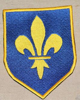 Wappen FLEUR DE LYS in blau