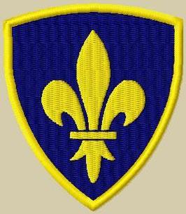 2er Set Wappen Fleur de Lys klein