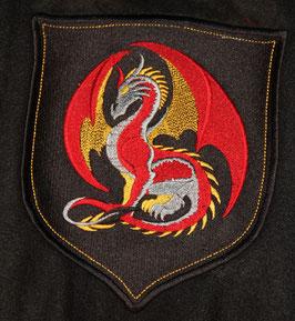 Wappen mit farbigem Drachen