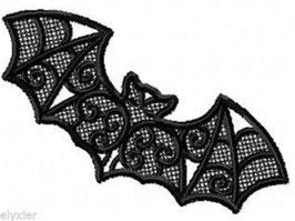 2er Set Fledermaus aus Spitze Schwarz