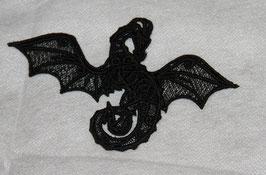 Drache aus Spitze Schwarz